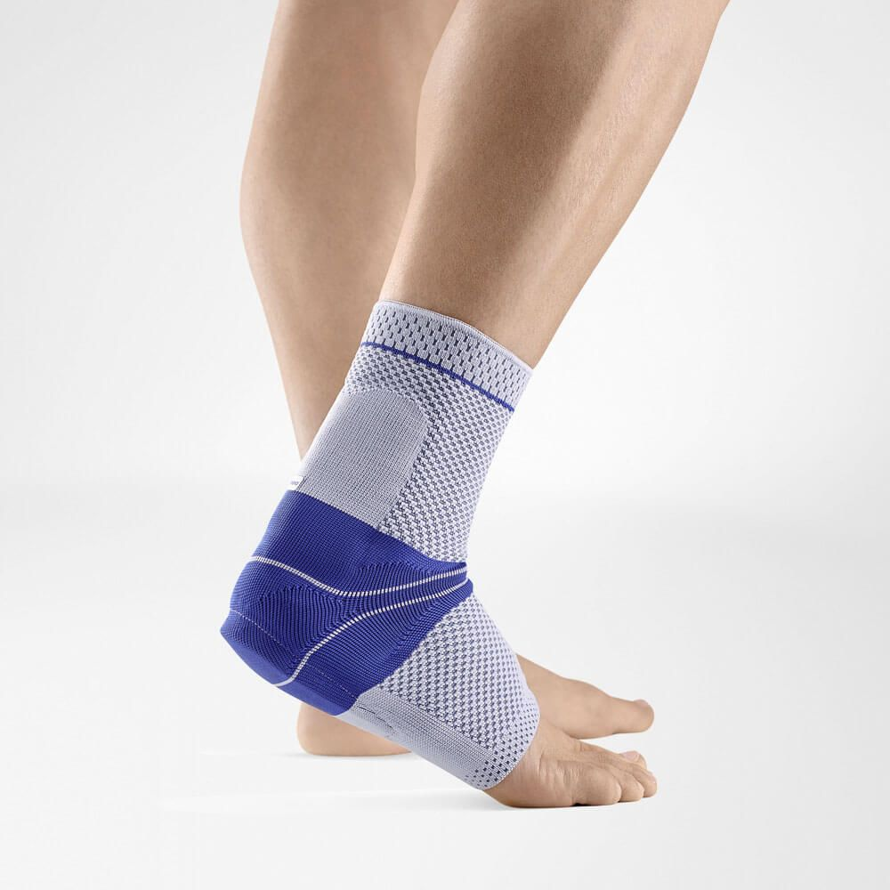 titan and blue colour AchilloTrain Ankle Brace